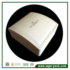 Decorative White Plastic Leather Jewelry Box pictures & photos