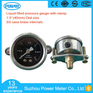 40mm 3 Bar Liquid Oil Pressure Gauge with Clamp pictures & photos
