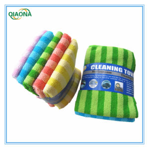 New Style/Color Striped Microfiber Towel (14NF42) / pictures & photos