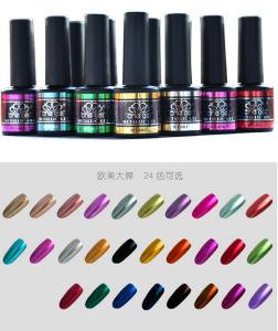 Metallic Color Nail UV Gel Polish Soak off 8ml 24 Kinds 2016 New Hot Professional