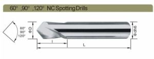 CNC Tungsten Carbide High Hardened Spot Drills