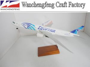 Egypt Air B777-300 Plane Model with Landing Gears pictures & photos