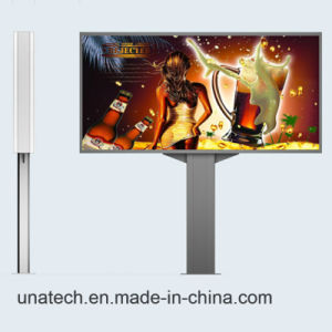 Outdoor Tempered Glass Steel Pillar Mega LED Printing Banner Fabric Light Box Media pictures & photos