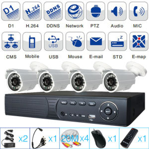 4 Channel Analog HD 700TV Lines CCTV Security DVR Kits