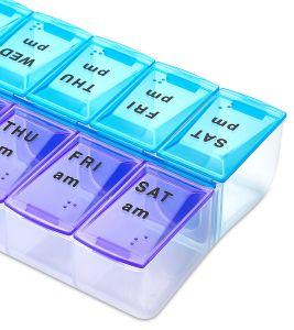Portable Pill Medicine Case Storage Box Organizer Pill Organizer, Twice-a-Day, 1 Pill Organizer pictures & photos