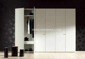 Wooden Lacquer Wardrobe Closet with ISO and E1 Standard