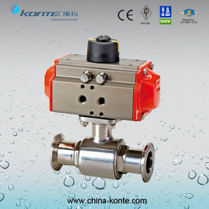 Pneumatic Clamped Sanitary Ball Valve pictures & photos