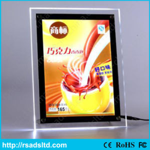 Acrylic Slim Crystal LED Lightbox with Ce Certificate