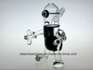 Wholesale New Design Minions Glass Water Pipe Oil Rig with Slitted Perc Diffusor