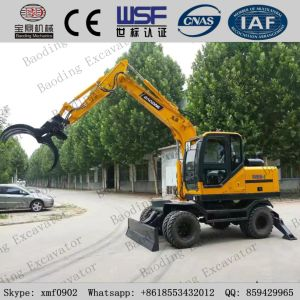 8 Wheel Yellow Wheel Excavator with Grab/Catching Sugarcane pictures & photos