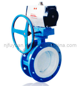 PTFE/FEP/PFA/E-Tfe Lined Butterfly Valve pictures & photos