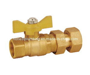 Brass Meter Ball Valves with Butterfly Handle pictures & photos