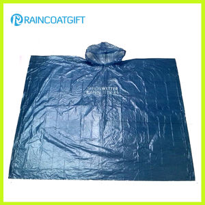 Clear Adult Emergency PE Rain Poncho Rpe-004 pictures & photos