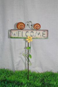 Metal Snail Welcome Stake (JW10041)