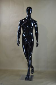 Glossy Black Strong Full Body Male Mannequin on Sale pictures & photos