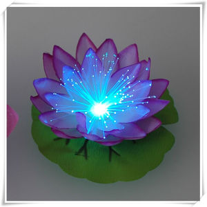 Fiber Optic LED Floating Lotus Christmas Light (VL15013) pictures & photos