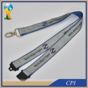 Polyester Satin Ribbon Lanyard with Egg Hook pictures & photos