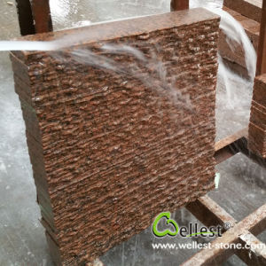 Garden Stone Waterfall Base Tianshan Red Granite Natural Split Tile pictures & photos