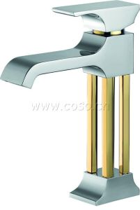 Brass Gold Color Basin Faucet Mixer Tap (BCG1003) pictures & photos