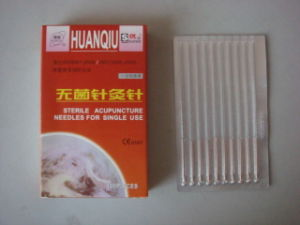 0.30X75mm Acupuncture Needle Without Tube, Silver/Copperr Handle - Huanqiu Brand pictures & photos