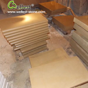 Yellow Beige Color Sandstone Hone Swimming Pool Floor Copping Tile pictures & photos