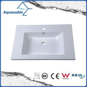 Sanitaryware Artificial Marble Rectangular Bathroom Basin Acb7502 pictures & photos