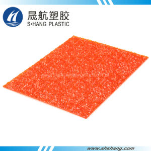 Orange Plastic Polycarbonate Embossed Diamond Sheet for Decoration pictures & photos