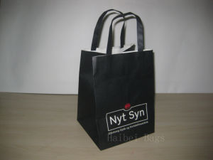 150GSM Printed Kraft Paper Bag with Flat Paper Handles (hbpb-68) pictures & photos
