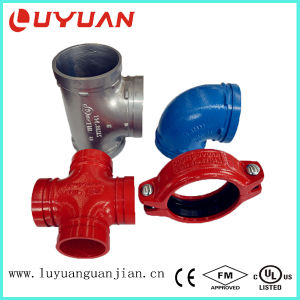 Ductile Iron Grooved Reducer Tee with UL FM Certifications pictures & photos