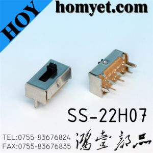 DIP 6pin Dpdt Slide Switch (SS-22H07) pictures & photos
