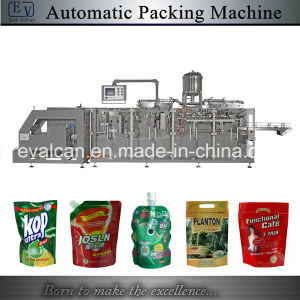 Automatic Tomato Paste, Granule, Nuts, Food, Tea Leaves, Liquid Zipper Doypack Stand up Pouch Ffs Packing Machine pictures & photos