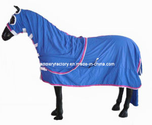 Blue Polycotton Horse Show Set Rug (SMR3261) pictures & photos