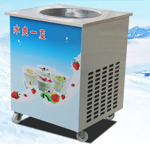 Ice Fried Machine and Cream Roll Machine Wholesale Single Head pictures & photos