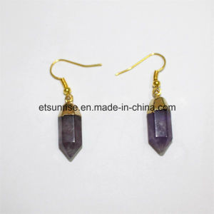 Semi Precious Gemstone Crystal Amethyst Quartz Earring pictures & photos