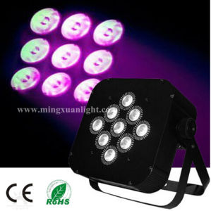 9*12W 4in1 Flat RGBW LED PAR Battery (YS-124) pictures & photos