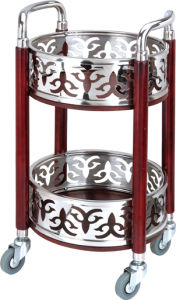 Round Wine Trolley with Stainless Steel Fw-109 pictures & photos