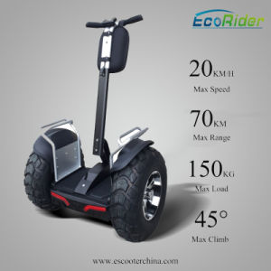 Electric Scooter New Products 2016 Ecorider Lithium Battery Brushless DC Motor 2 Wheel Mini Electric Scooter 4000W pictures & photos