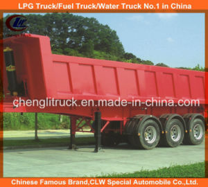 Heavy Duty Tri-Axle Square End Tipping Dumper Truck Trailer pictures & photos