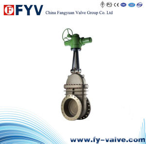 Cast Steel Slab Gate Valve with Electric Actuator pictures & photos