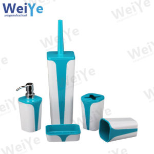 Bathroom Accessory with Quadrate Tapered Part (WY1005 White & Blue)