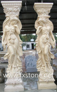 Stone Carved Roman Column with Figures (BJ-SCULPTURE0046) pictures & photos