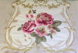 Luxurious Location Floral Velvet with Embroidery Fabrics