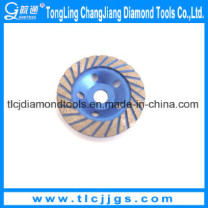 Single Row Colored Concrete Grinding Diamond Cup Wheel pictures & photos