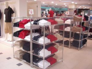 Chrome Clothes Display Rack for Shop and Showroom pictures & photos