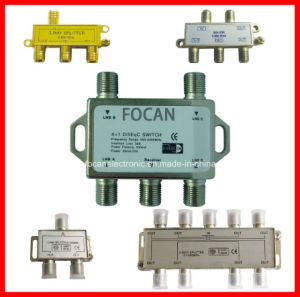 CATV Splitter, Satellite Splitter with 2ways, 3ways 4ways, 6ways and 8ways 5-1000MHz, 5-2500MHz (FC-16886) pictures & photos