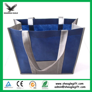 Custom Printed Lamination PP Promotional Shopping Non Woven Tote Bag pictures & photos