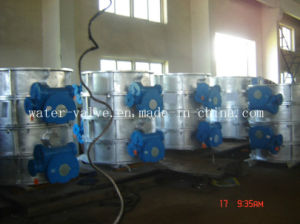 Duplex Steel Double Flange Butterfly Valve Used for Sea Water