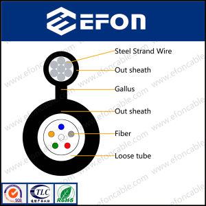 Overhead 7 Steel Strand Wire Self Supporting Optical Fiber Cable pictures & photos