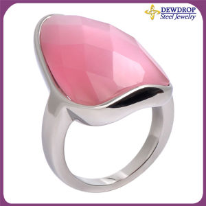 Women′s Jewelry Pink Stone Wedding Rings Finger Rings 2013