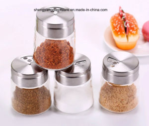 Fashion Pepper/Salt Bottle with Stainless Steel Lid pictures & photos